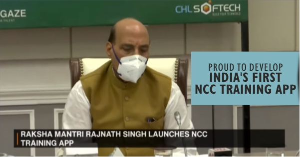 NCC Training App Developed by CHL Softech, IT Wing of Crystal Hues, Launched by Defence Minister Shri Rajnath Singh